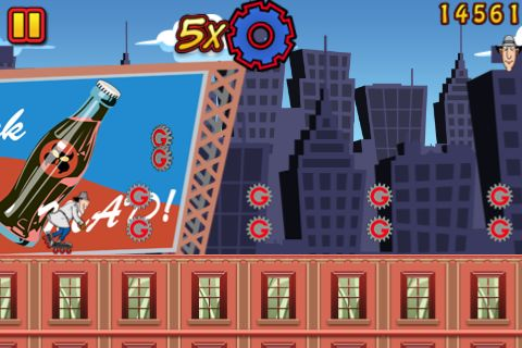 Screenshots of the Inspector Gadget's mad dash game for iPhone, iPad or iPod.