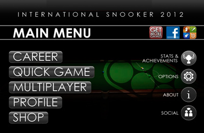 Download International Snooker 2012 iPhone free game.