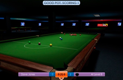 Screenshots of the International Snooker 2012 game for iPhone, iPad or iPod.