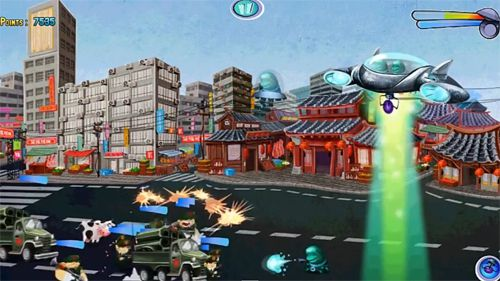 Screenshots vom Spiel Invasion: Alien attack für iPhone, iPad oder iPod.