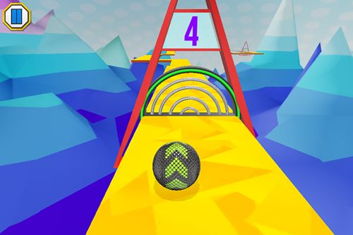 Screenshots vom Spiel Iron ball ride für iPhone, iPad oder iPod.