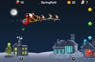 Screenshots of the iSanta game for iPhone, iPad or iPod.