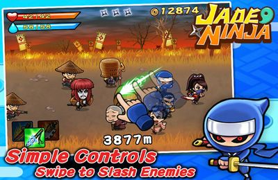 Capturas de pantalla del juego Jade Ninja para iPhone, iPad o iPod.