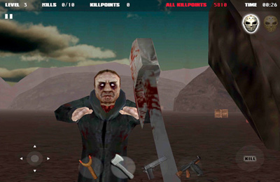Screenshots of the Jason vs Zombies game for iPhone, iPad or iPod.
