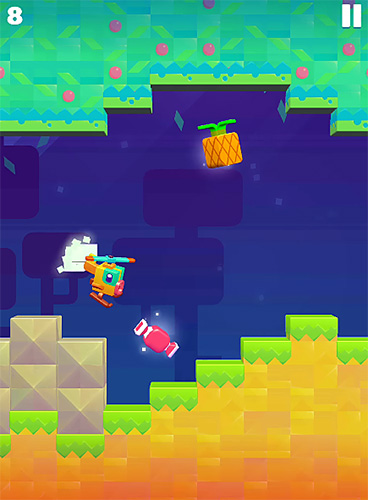 Capturas de pantalla del juego Jelly copter para iPhone, iPad o iPod.