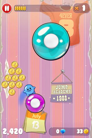 Capturas de pantalla del juego Jelly jumpers para iPhone, iPad o iPod.