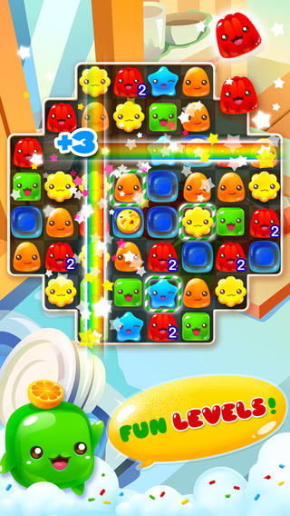Screenshots of the Jelly mania game for iPhone, iPad or iPod.
