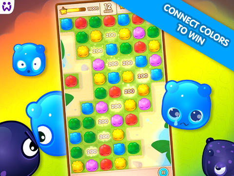 Capturas de pantalla del juego Jelly Splash para iPhone, iPad o iPod.