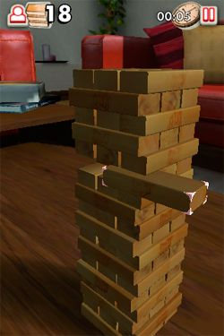Screenshots do jogo Jenga para iPhone, iPad ou iPod.