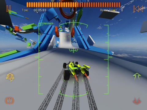 Геймплей Jet car stunts 2 для Айпад.