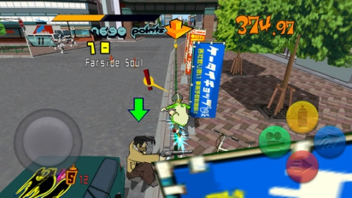 Capturas de pantalla del juego Jet set radio para iPhone, iPad o iPod.