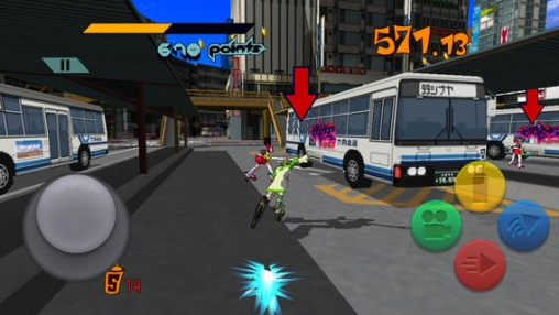 Screenshots of the Jet set radio game for iPhone, iPad or iPod.