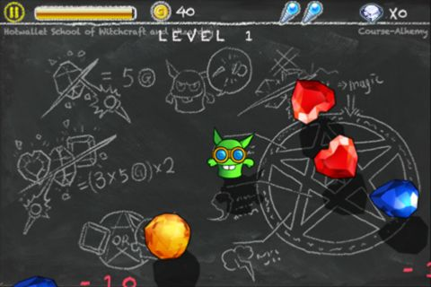 Screenshots of the Jewel and goblin game for iPhone, iPad or iPod.