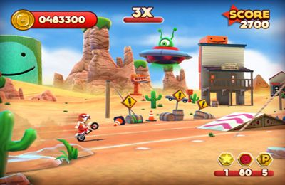Screenshots of the Joe Danger game for iPhone, iPad or iPod.