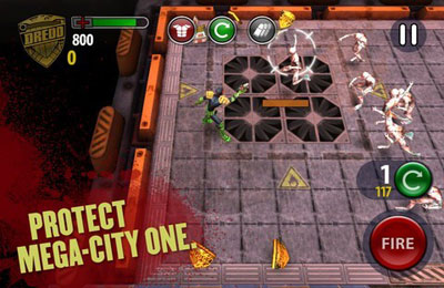 Capturas de pantalla del juego Judge Dredd vs. Zombies para iPhone, iPad o iPod.