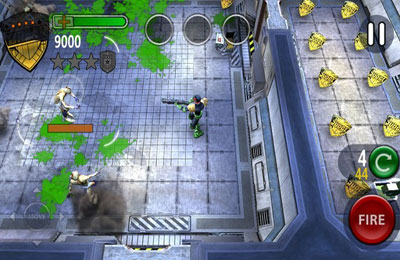 Screenshots vom Spiel Judge Dredd vs. Zombies für iPhone, iPad oder iPod.