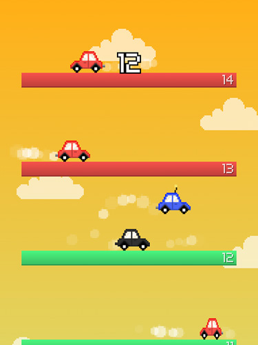 Screenshots of the Jump car game for iPhone, iPad or iPod.