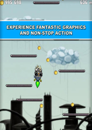 Screenshots of the Jump Robot game for iPhone, iPad or iPod.