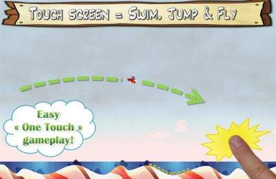 Screenshots of the Jump & Splash game for iPhone, iPad or iPod.