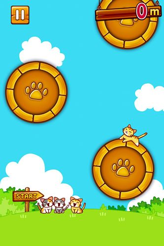 Capturas de pantalla del juego Jump'n roll cat para iPhone, iPad o iPod.