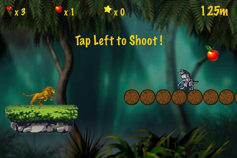 Screenshots vom Spiel Jungle runner für iPhone, iPad oder iPod.