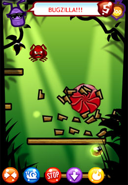Screenshots of the Jungler Bug game for iPhone, iPad or iPod.