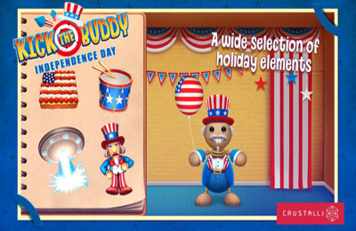 Скачать игру Kick the Buddy Independence Day для iPad.