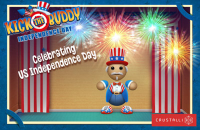 Геймплей Kick the Buddy Independence Day для Айпад.