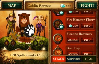 Download Kids vs Goblins iPhone free game.