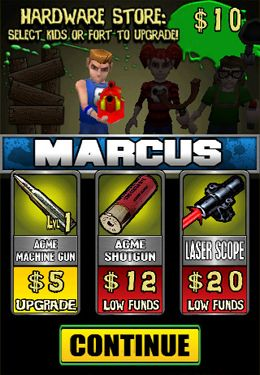 Screenshots of the Kids vs. Zombies game for iPhone, iPad or iPod.