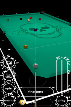 Screenshots of the Killer Pool game for iPhone, iPad or iPod.