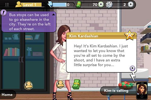Screenshots vom Spiel Kim Kardashian: Hollywood für iPhone, iPad oder iPod.