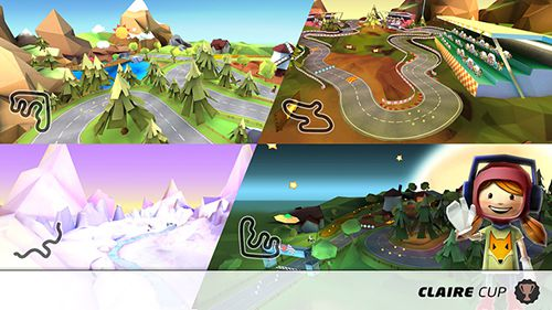 Écrans du jeu King of karts: 3D racing fun pour iPhone, iPad ou iPod.