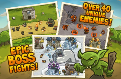 Free Kingdom Rush download for iPhone, iPad and iPod.