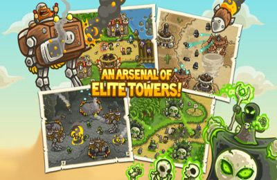 iPhone、iPad 或 iPod 版Kingdom Rush Frontiers游戏截图。
