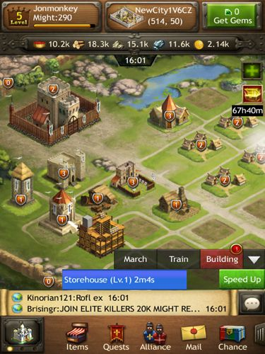 Screenshots vom Spiel Kingdoms of Camelot: Battle for the North für iPhone, iPad oder iPod.