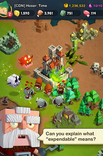 Screenshots do jogo Kingdoms of heckfire para iPhone, iPad ou iPod.