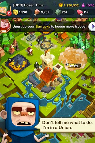 Capturas de pantalla del juego Kingdoms of heckfire para iPhone, iPad o iPod.