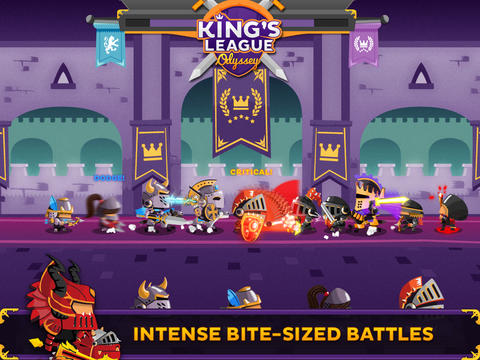 Screenshots vom Spiel King's League: Odyssey für iPhone, iPad oder iPod.