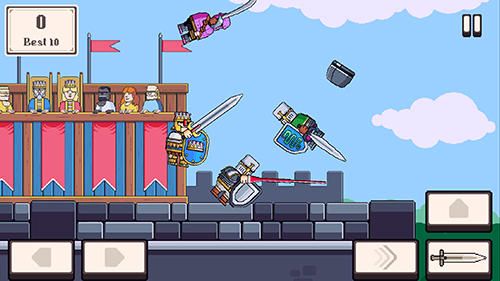 iPhone、iPad 或 iPod 版Knight brawl游戏截图。