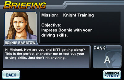 Download Knight Rider iPhone free game.