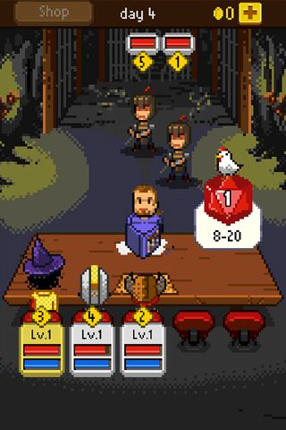 Capturas de pantalla del juego Knights of pen & paper para iPhone, iPad o iPod.