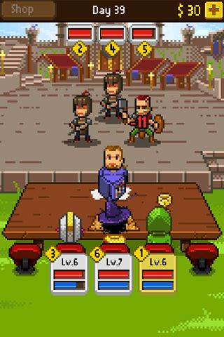 Screenshots vom Spiel Knights of pen & paper für iPhone, iPad oder iPod.