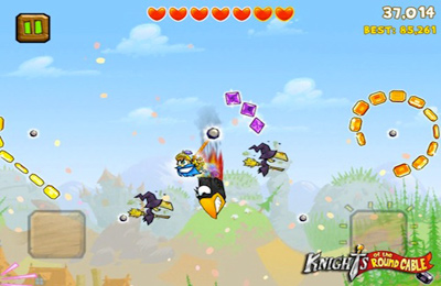 Screenshots do jogo Knights of the Round Cable para iPhone, iPad ou iPod.