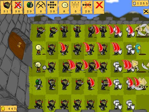 Écrans du jeu Knights vs. knights pour iPhone, iPad ou iPod.