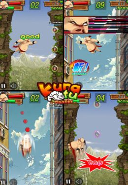 Screenshots of the Kung Fu Master: Pig game for iPhone, iPad or iPod.
