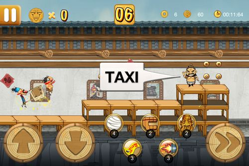 Screenshots of the Kungfu taxi game for iPhone, iPad or iPod.
