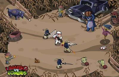 Screenshots do jogo Lamebo vs Zombies para iPhone, iPad ou iPod.