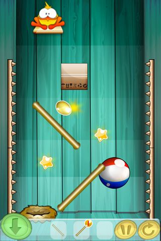 Screenshots vom Spiel Lay the egg: Lay golden eggs für iPhone, iPad oder iPod.