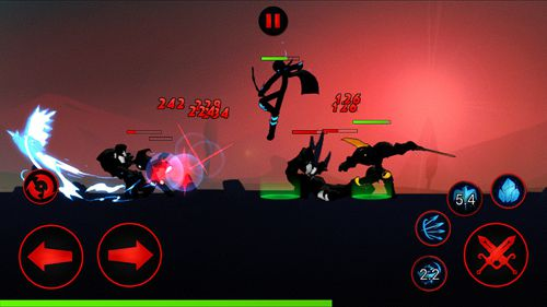 Capturas de pantalla del juego League of stickmen para iPhone, iPad o iPod.